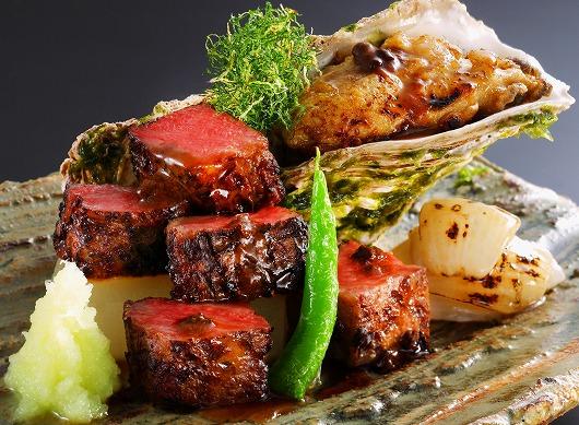 有機野菜と肉